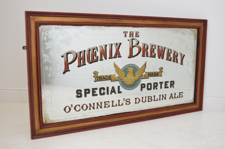 The Phoenix Brewery advertising mirror,