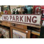 No Parking alloy road sign.
