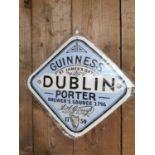 Guinness Dublin Porter advertising sign.