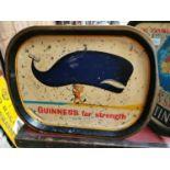 Guinness For Strength advertising drinks tray.
