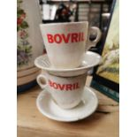 Bovril advertising cups and saucers.