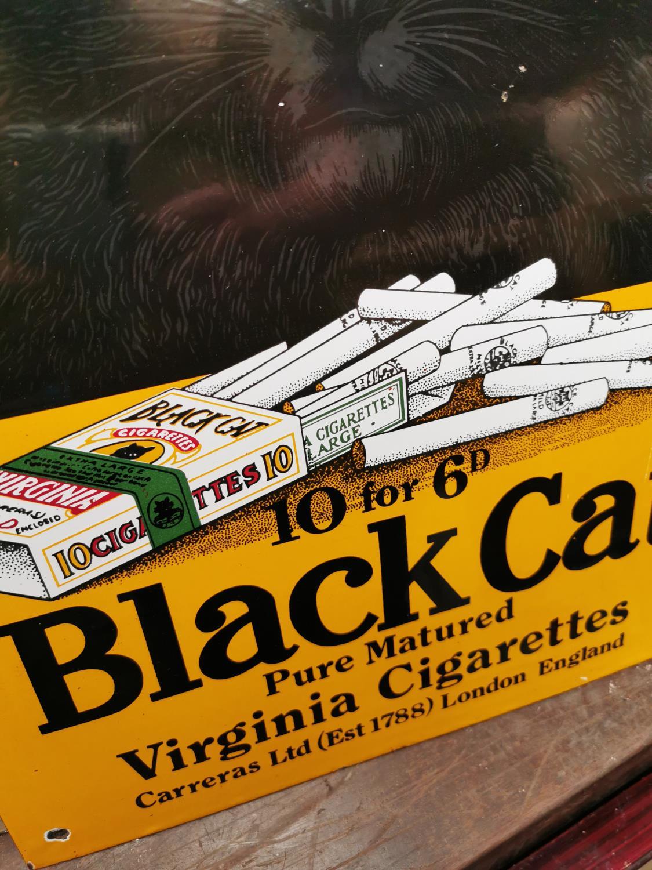 Black Cat Virginia Cigarettes advertising sign. - Image 2 of 2