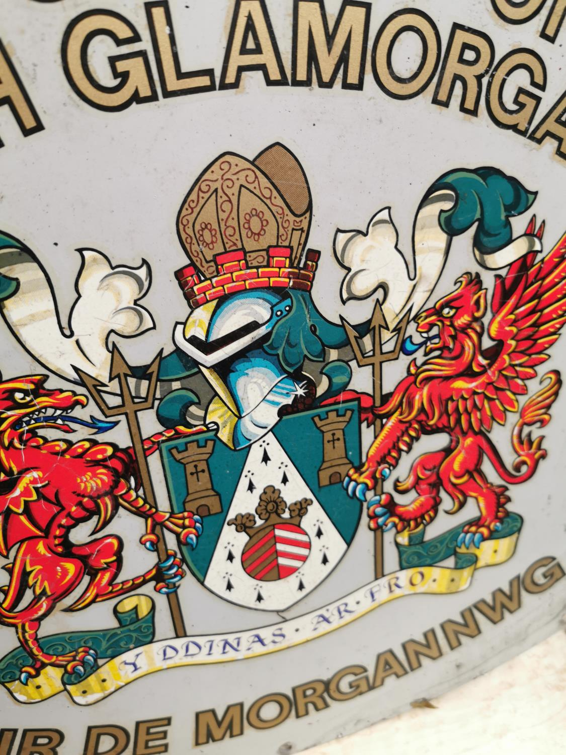 The CC of South Glamorgan advertising sign. - Image 2 of 2