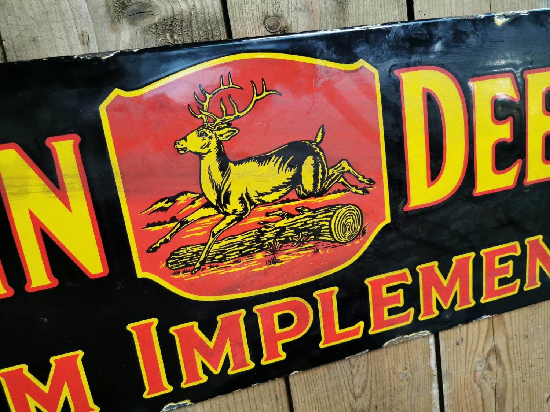 John Deere enamel advertising sign. - Image 2 of 2