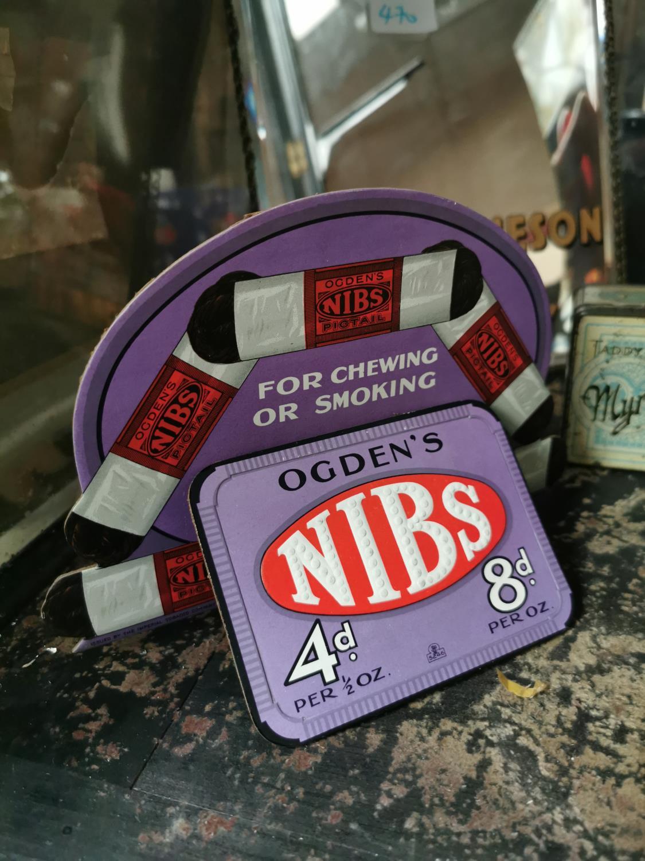 Ogden's Nibs cardboard advertising stand.