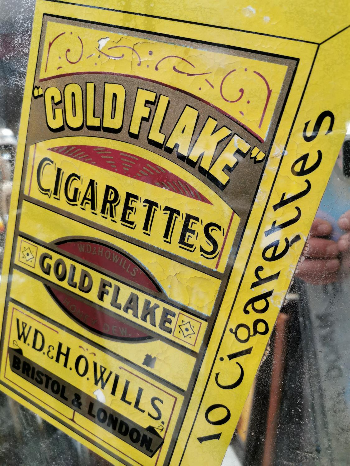Will's Gold Flake advertising mirror. - Image 2 of 2