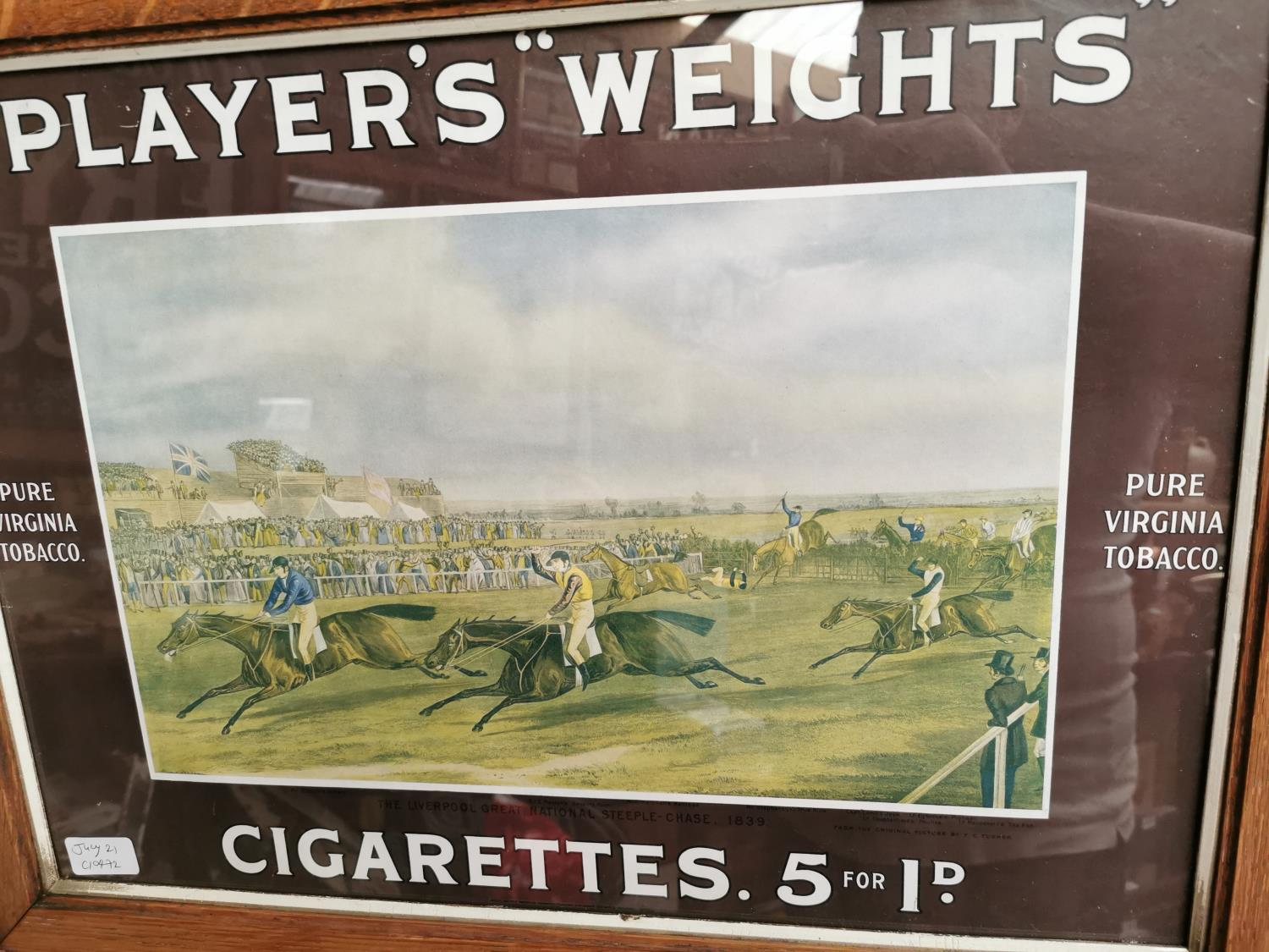 Players Weights cigarettes advertising print. - Image 2 of 3