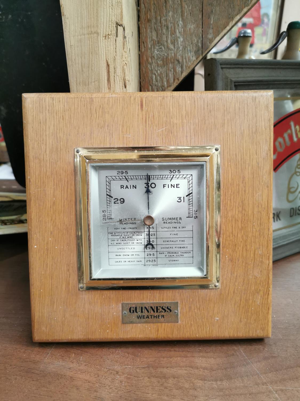 Guinness advertising barometer.