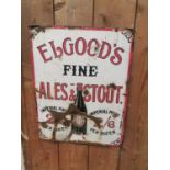 Elgood's Fine Ales and Stouts enamel sign