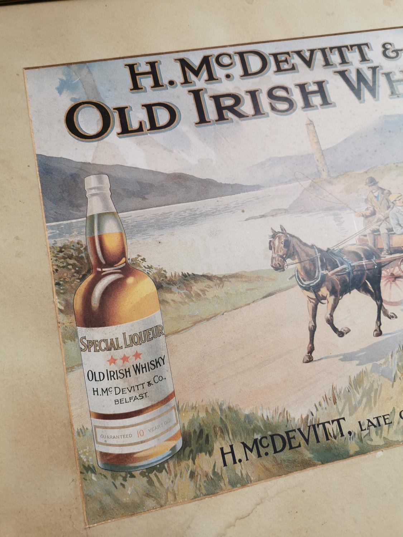 H. McDevitt & Co. Irish Whiskey advertising print. - Image 2 of 3