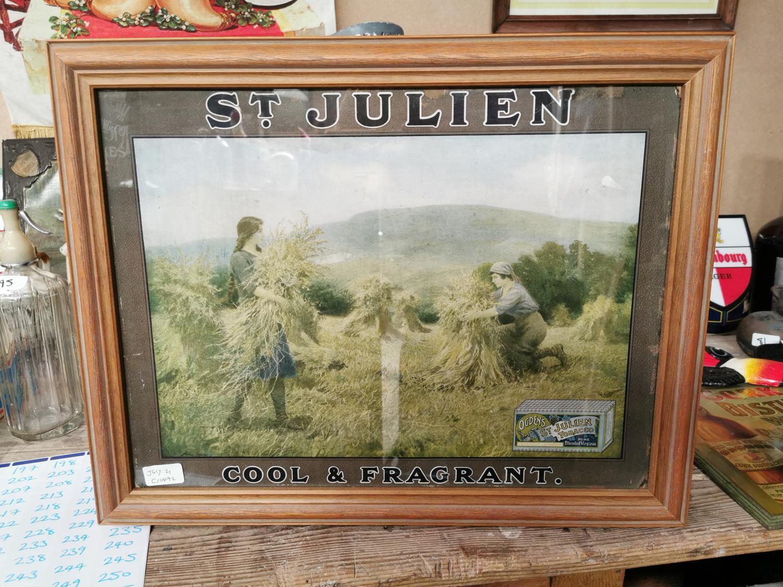 St Julien tobacco advertising showcard.