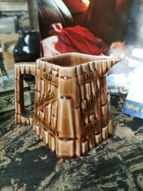Bushmill's Old Irish Whiskey advertising jug.
