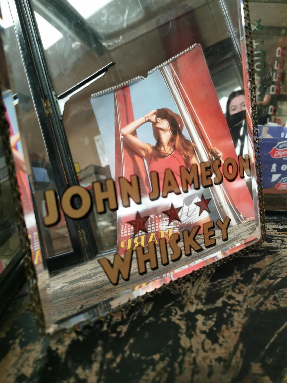 John Jameson Whiskey advertising mirror. - Image 2 of 3