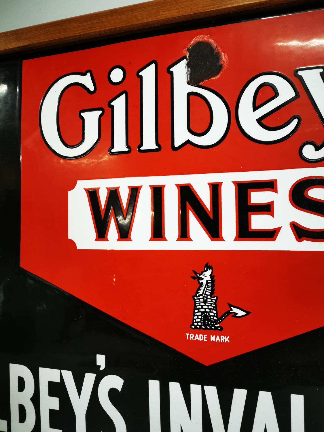 Gilbey's Wine and Port advertising sign. - Image 3 of 4