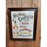 Nicholas Devereux & Co. Whiskey advertising print.