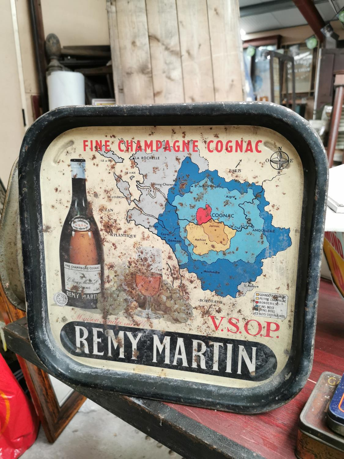 Remy Martin advertising drinks tray.