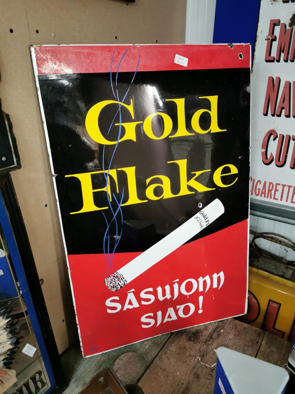 Gold Flake enamel advertising sign.