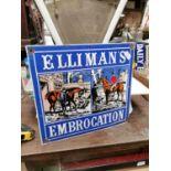 Elliman's enamel advertising sign.