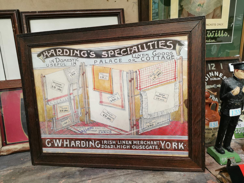 Hardings Irish Linen Merchant advertising print.