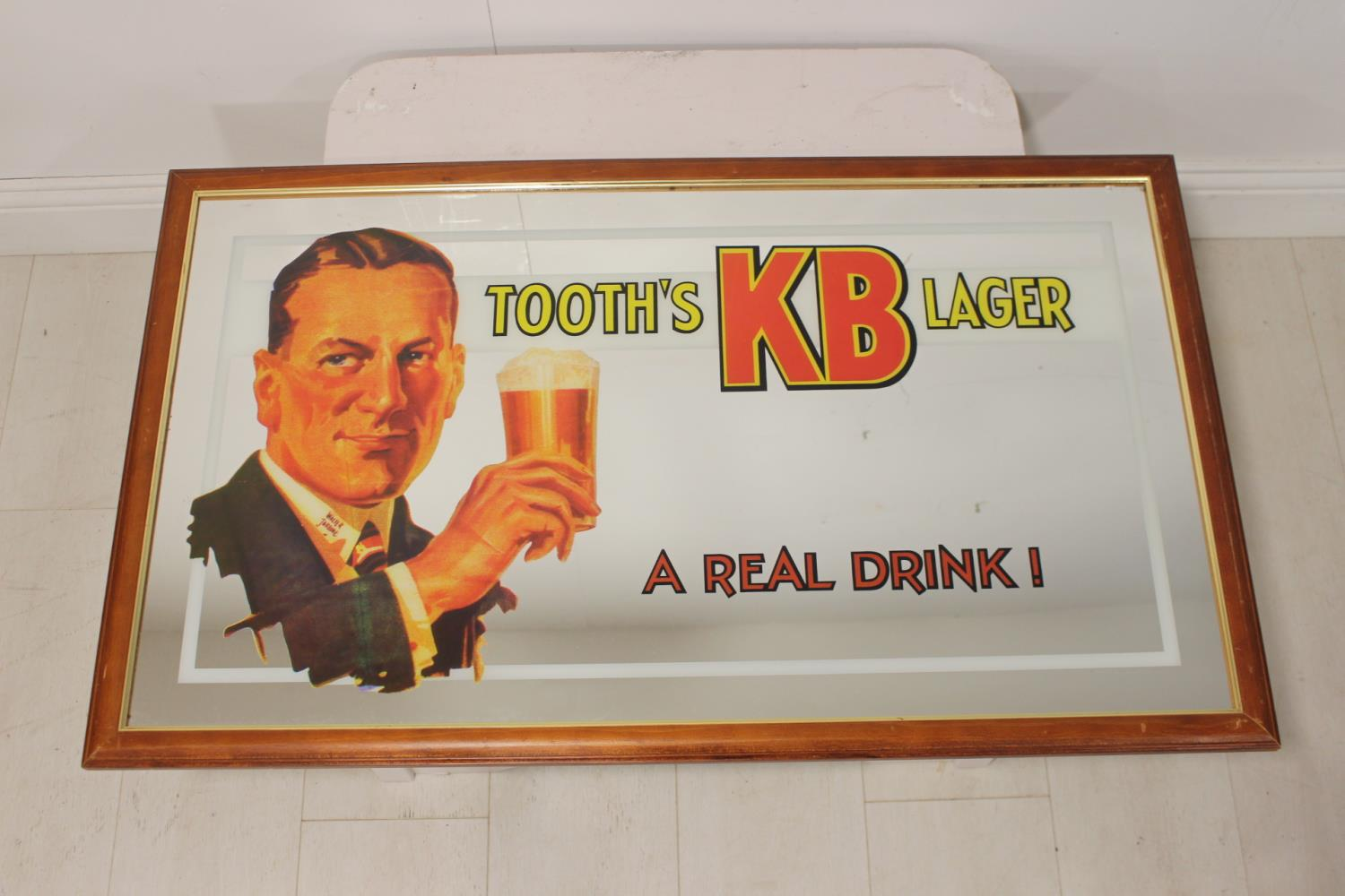 Tooth's KB Lager advertising mirror.