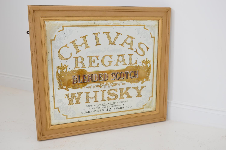 Chivas Regal advertising mirror.
