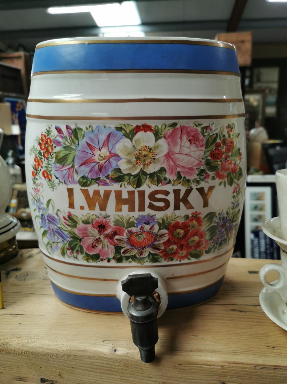 Rare Irish Whiskey ceramic dispenser.