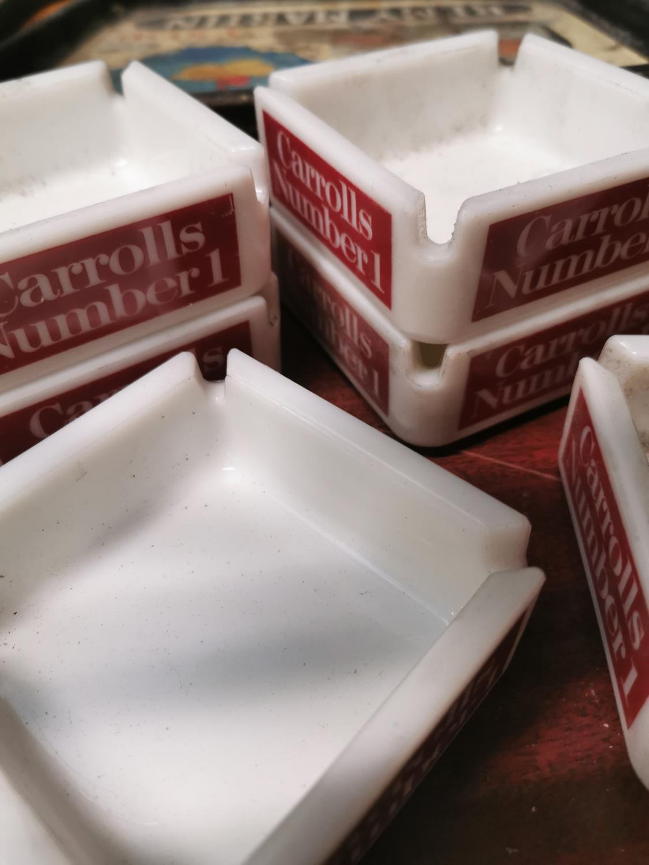 Six Carrolls No. 1 advertising ashtrays. - Image 2 of 2