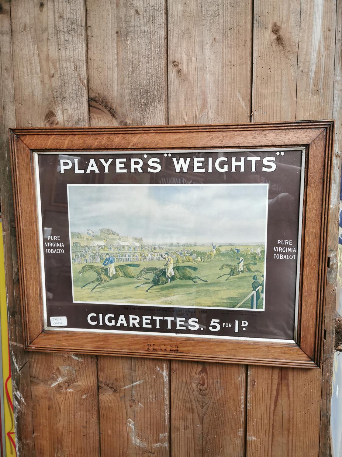 Players Weights cigarettes advertising print.