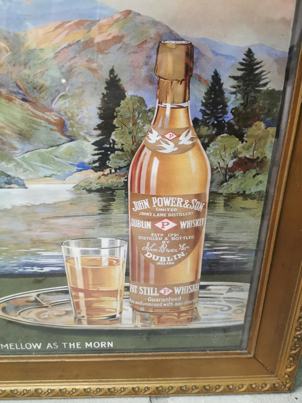 Powers whiskey framed advertising print. - Image 2 of 2