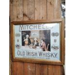 Mitchell's Old Irish Whiskey advertising print.