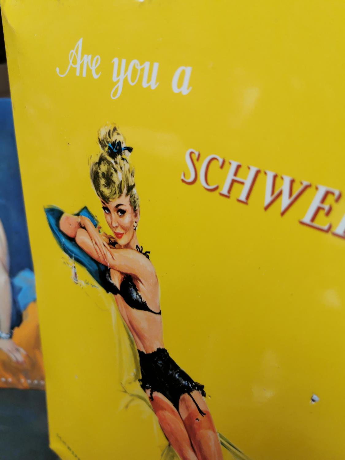Schweppes advertising showcard. - Image 2 of 2