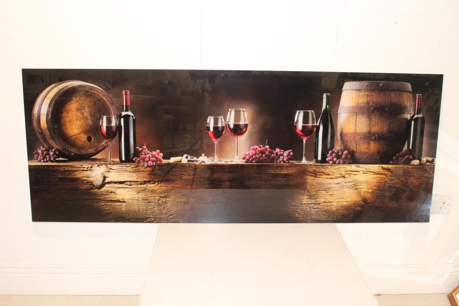 Wine wall hanging art glass advertising sign.