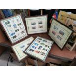Set of five Stamps of Ireland prints.
