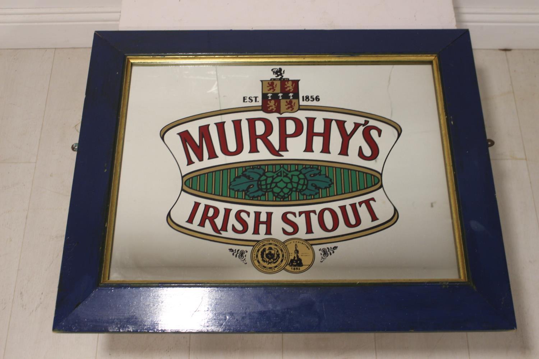 Murphy's Irish Stout advertising mirror.