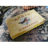 Ogden's Robin cigarettes advertising box.