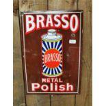 Brasso Metal Polish advertising sign.