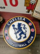 Chelsea Football Club advertising sign.
