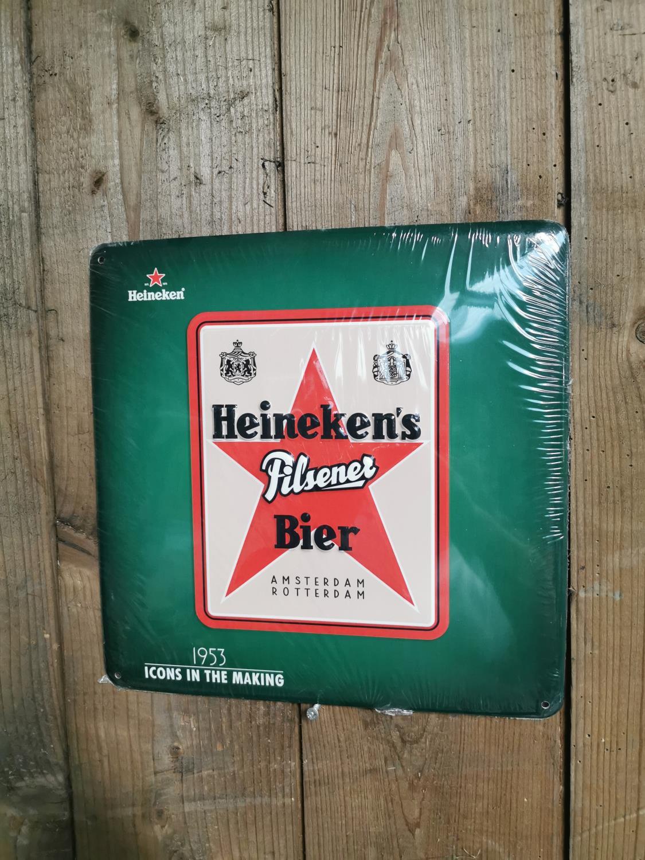Heineken tin plate advertising sign.