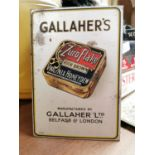 Gallaher's tobacco advertising sign.