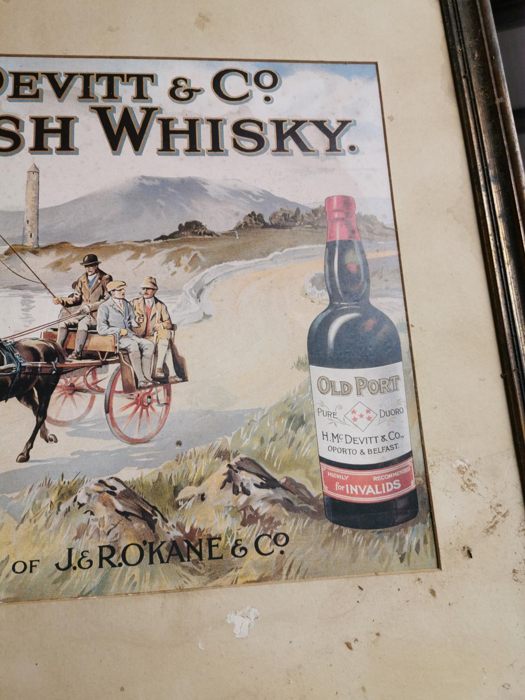 H. McDevitt & Co. Irish Whiskey advertising print. - Image 3 of 3