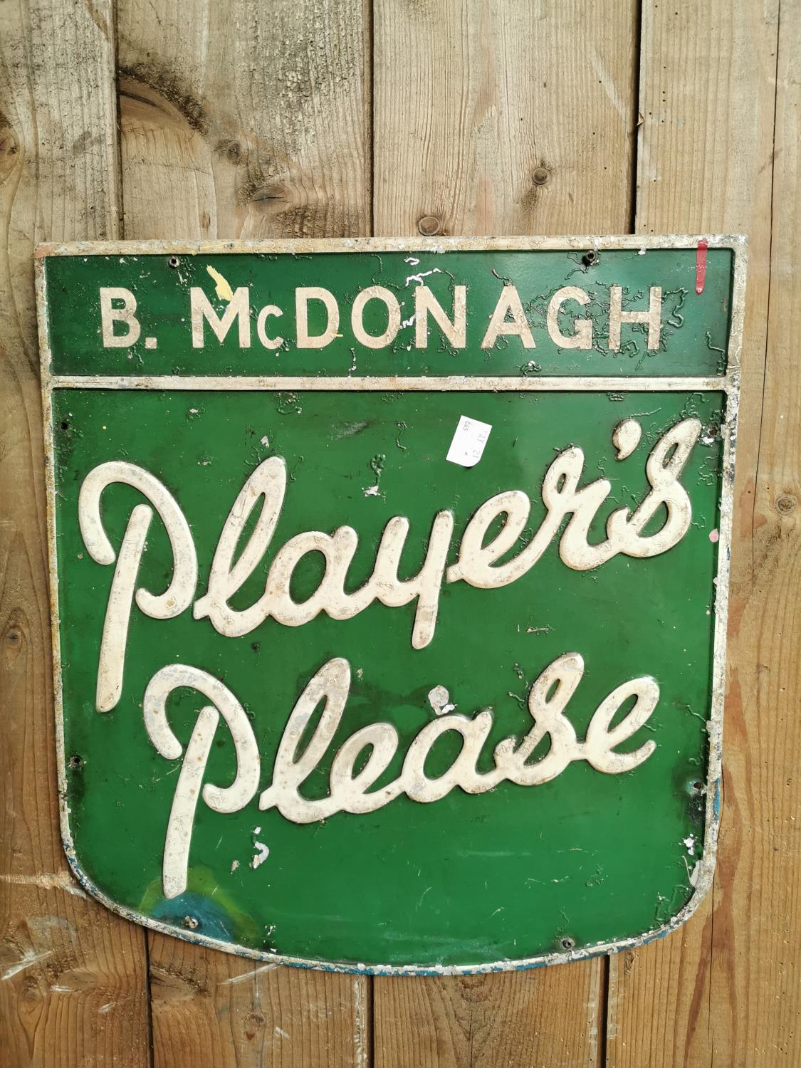 Players Please alloy advertising sign.