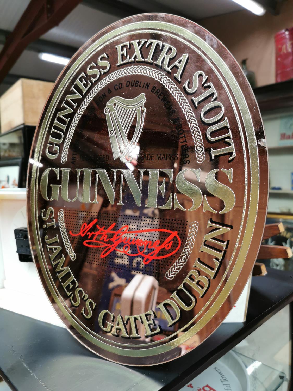 Guinness St. James Gate advertising mirror.