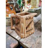 Old Bushmills Irish Whiskey advertising jug.