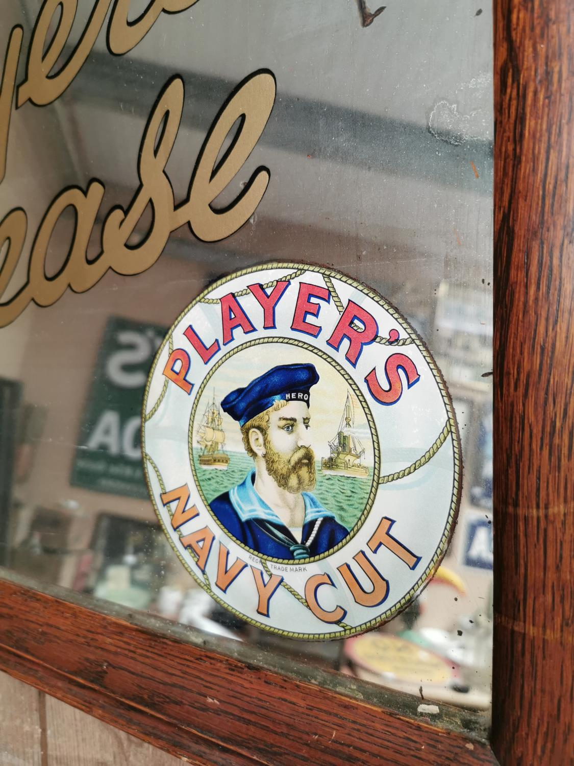 Players Please Navy Cut advertising mirror. - Image 2 of 3
