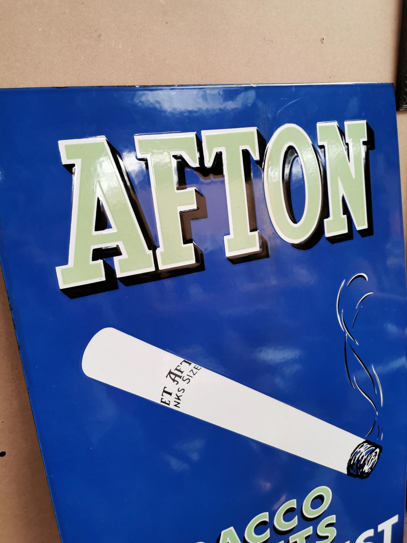 Afton Tobacco enamel advertising sign. - Image 2 of 2