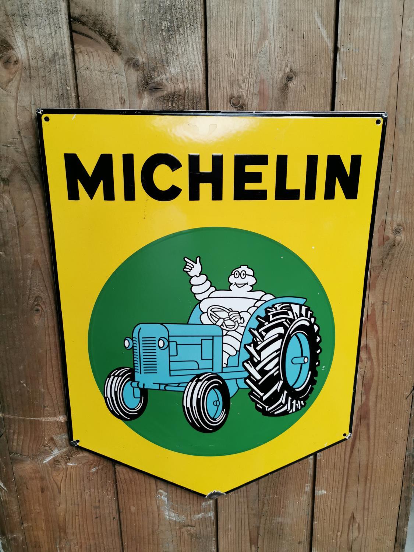 Michelin enamel advertising sign.