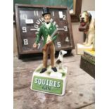 Squires Gin advertising figure.