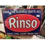 Rinso enamel advertising sign