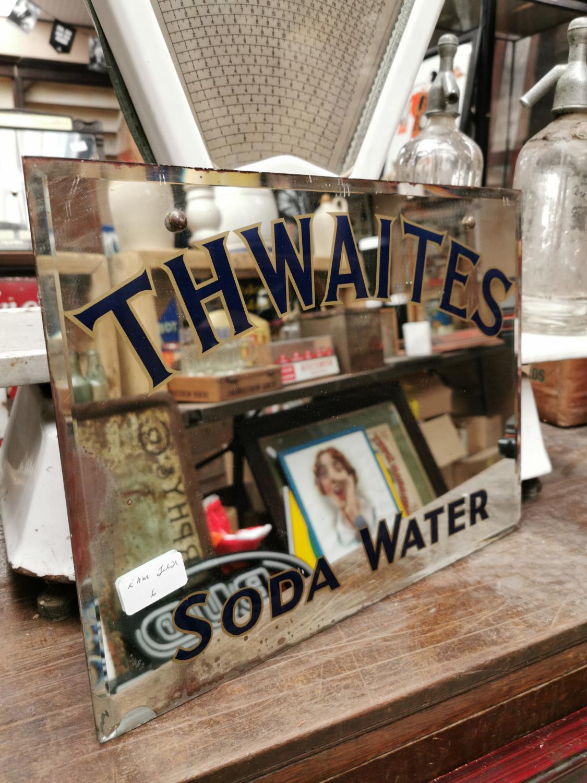 Thwaites Soda Water advertising mirror.