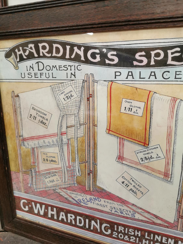 Hardings Irish Linen Merchant advertising print. - Image 2 of 3
